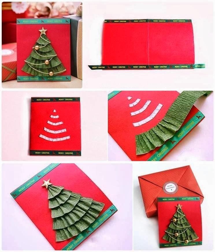 Новогодние объемные открытки из бумаги своими руками